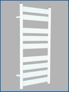 Badheizkörper VERSUS 950 x 500 mm. Weiß Designbadheizkörper