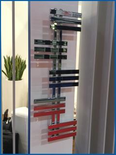 Design Badheizkörper ELFIE Hochglanz Chrom 1200 x 600 mm. Handtuchwärmer