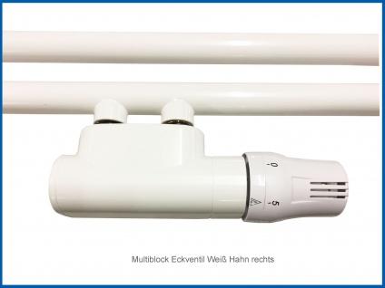 ALBA Multiblock Anschlussarmatur Set, Chrom oder Weiß Eck-Form Ventil