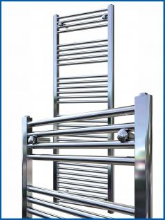 Badheizkörper LIDYA Hochglanz Chrom 800 x 300 mm. Gerade Standardanschluss Handtuchwärmer