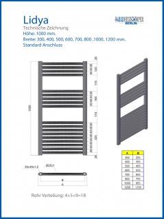 Badheizkörper LIDYA Hochglanz Chrom 1000 x 700 mm. Gebogen Standardanschluss - Vorschau 2
