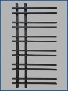 Design Badheizkörper VENTO Schwarz Anthrazit 1200 x 550 mm. - Vorschau 1