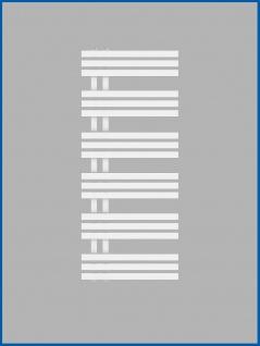 Designbadheizkörper VERONA Weiß 1400 x 500 mm. Handtuchwärmer - Vorschau 2