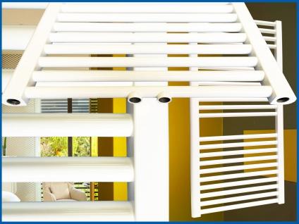 Badheizkörper SMYRNA Weiß 300 x 1000 mm. Gerade Handtuchwärmer - Vorschau 2
