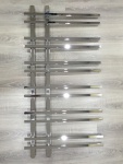 Design Badheizkörper VENTO Chrom 1200 x 550 mm. inkl. 2 Stück SQUARE Eckventile