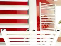 Badheizkörper SMYRNA Plus Weiß 500 x 1400 mm. Gerade mit Mittelanschluss