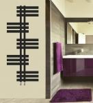 Design Badheizkörper ELFIE Schwarz Anthrazit 1200 x 500 mm. Handtuchwärmer