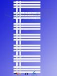 Designbadheizkörper VERONA Weiß 1600 x 600 mm. Handtuchwärmer