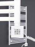 Elektro Badheizkörper MORA 1022 x 600 mm. Weiß rein elektrisch mit KTX2