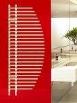 Design Badheizkörper BONITA Weiß 1400 x 600 mm. Badheizkörper mit Ventile