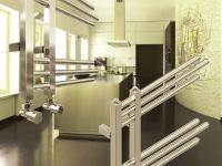 Designbadheizkörper NERISSA Chrom 1400 x 600 mm. Gerade Badheizkörper