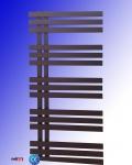 Design Badheizkörper VERONA Schwarz Anthrazit 1400 x 500 mm. Handtuchwärmer