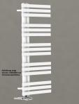 Design Badheizkörper VERONA Weiß 1200 x 500 mm. Handtuchwärmer