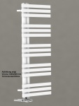 Designbadheizkörper VERONA Weiß 1200 x 600 mm. Handtuchwärmer
