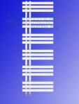 Designbadheizkörper VERONA Weiß 1400 x 500 mm. Handtuchwärmer