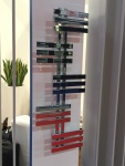 Designbadheizkörper ELFIE Chrom 1300 x 600 mm. Handtuchwärmer