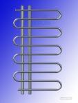 Designbadheizkörper FELICITA Chrom 1400 x 600 mm. Handtuchtrockner mit Ventile