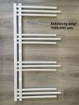 Designbadheizkörper NERISSA Weiß 1400 x 600 mm. Handtuchtrockner