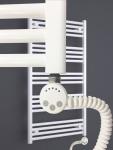 Elektro Badheizkörper MORA 1022 x 500 mm. Weiß rein elektrisch Handtuchwärmer