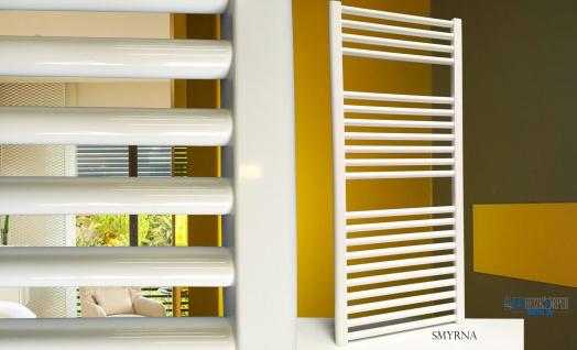 Badheizkörper SMYRNA Weiß 300 x 1000 mm. Gerade Handtuchwärmer - Vorschau 5