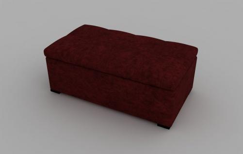Sitzbank Defne mit Stauraum Rot