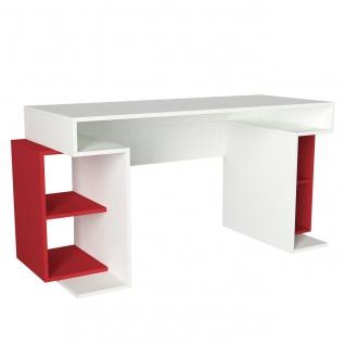 Schreibtisch Monument Weiß Rot
