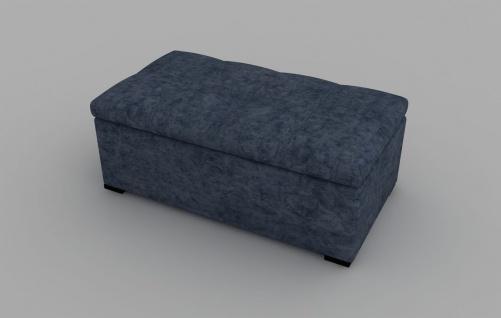 Sitzbank Defne mit Stauraum Blau