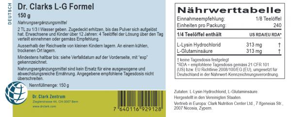 Lysin-und Glutaminsäure Pulvermix, 150g