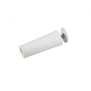 10 x Anschlagstopper / Anschlagpuffer 60mm, weiß