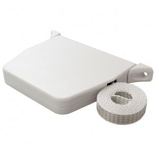 5 x Aufschraubwickler Mini Aufputz Gurtwickler Rolladen weiß, 5 m Gurtband Rolladengurt grau, Einzugautomatik bei Gurtbandwechsel - Vorschau 3