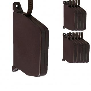 10 x Aufschraubwickler Mini Aufputz Gurtwickler Rolladen braun, 5 m Gurtband Rolladengurt braun, Einzugautomatik bei Gurtbandwechsel