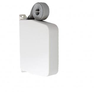 Aufschraubwickler Aufputz Gurtwickler Maxi für Rolladen, 11 m Gurtband / Rolladengurt, weiß