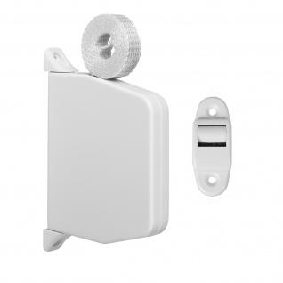 Aufschraubwickler Mini Aufputz Gurtwickler Rolladen weiß, 5 m Gurtband Rolladengurt grau, Einzugautomatik bei Gurtbandwechsel inkl. Gurtdurchführung
