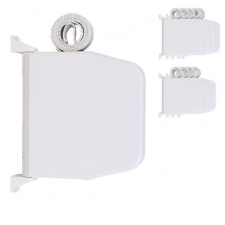 10 x Selve Aufschraubwickler Mini Aufputz Gurtwickler aufklappbar Scharniersystem Rolladen weiß, 5 m Gurtband Rolladengurt grau