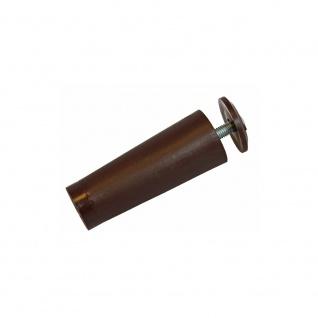 10 x Anschlagstopper / Anschlagpuffer 60mm, braun