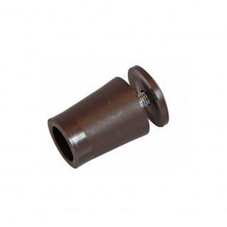 10 x Anschlagstopper / Anschlagpuffer 28mm, braun