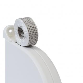 25 x Aufschraubwickler Mini Aufputz Gurtwickler Rolladen weiß, 5 m Gurtband Rolladengurt grau, Runddesign - Vorschau 3