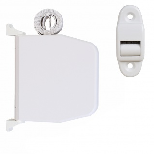 5 x Selve Aufschraubwickler Mini Aufputz Gurtwickler aufklappbar Scharniersystem Rolladen weiß, 5 m Gurtband Rolladengurt grau inkl. Gurtdurchführung