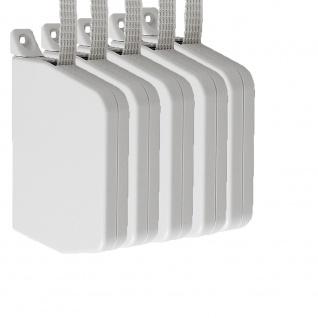 5 x Aufschraubwickler Mini Aufputz Gurtwickler Rolladen weiß, 5 m Gurtband Rolladengurt grau, Einzugautomatik bei Gurtbandwechsel