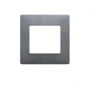 Simu Rahmen 80x80mm für alle Hz Funk Wandsender Farbe Alu gebürstet | Design Wechselrahmen