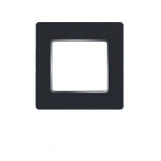 Simu Rahmen 80x80mm für alle Hz Funk Wandsender Farbe Anthrazit Chrom | Design Wechselrahmen