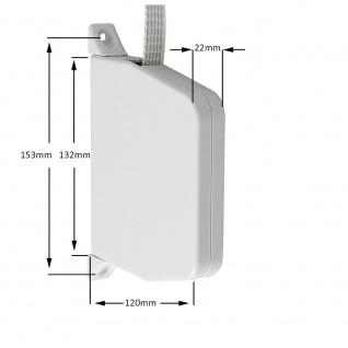 2 x Aufschraubwickler Mini Aufputz Gurtwickler Rolladen weiß, 5 m Gurtband Rolladengurt grau, Einzugautomatik bei Gurtbandwechsel