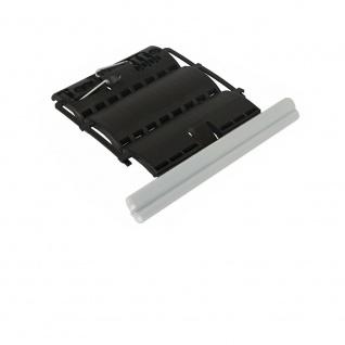 5 x Rollladen Clip Wellenverbinder für 50mm & 60mm 8-kant Stahlwellen, 2-gliedrig, feste Wellenverbinder, Hochschiebesicherung