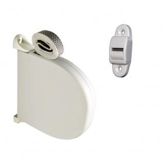 Aufschraubwickler Mini Aufputz Gurtwickler Rollladen, weiß inkl. 5 m Gurtband Rollladengurt vormontiert + Gurtführung - 22273-16203