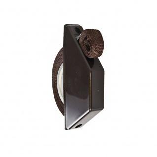 5 x Rollladen Halbeinlass-Gurtwickler | Farbe: braun | 5m Gurtband braun