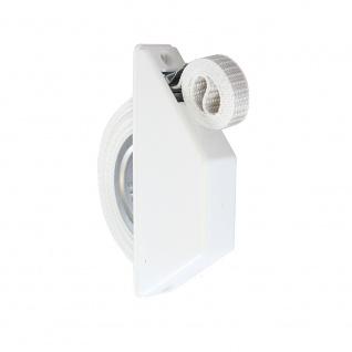 Rollladen Halbeinlass-Gurtwickler | Farbe: weiß | 5m Gurtband grau