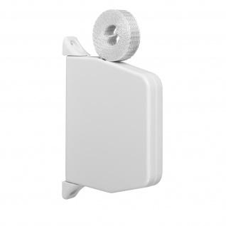 Aufschraubwickler Mini Aufputz Gurtwickler Rolladen weiß, 5 m Gurtband Rolladengurt grau, Einzugautomatik bei Gurtbandwechsel