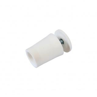 10 x Anschlagstopper / Anschlagpuffer 28mm, weiß