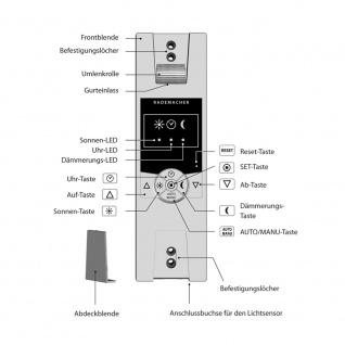 Rademacher RolloTron Standard 1340 UW elektrischer Rolladen Unterputz Gurtwickler, weiß, 45 kg Zugleistung, 15mm Mini Rolladengurt - Vorschau 3