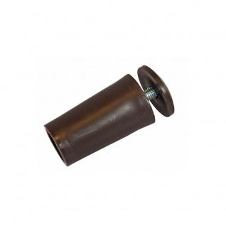 10 x Anschlagstopper / Anschlagpuffer 40mm, braun